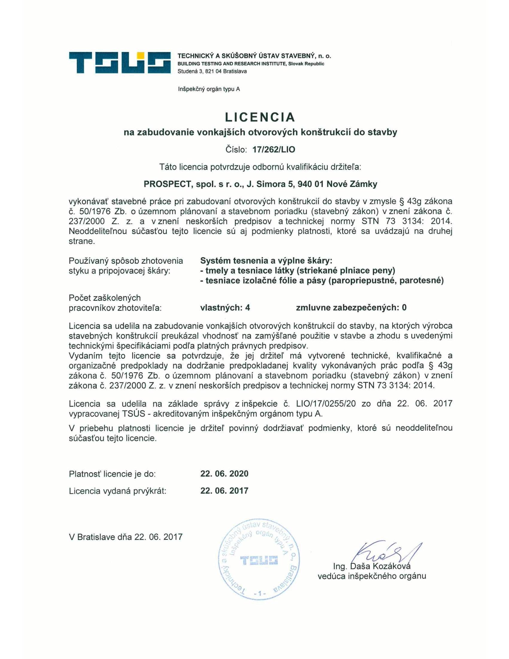 Licencia na zabudovanie okien-1